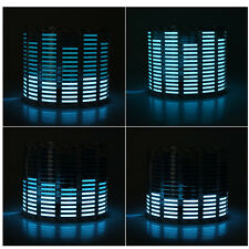 45 x 11cm Sound Music Video Activated Sensor Car Sticker Light Equalizer Blue