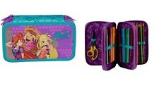WINX CLUB Three-story TRIPLE PENCIL CASE - FULLY EQUIPED - High Quality NEW!!