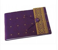 Brand New Paper High Dry Mount Purple Sari Photo Album White Pages