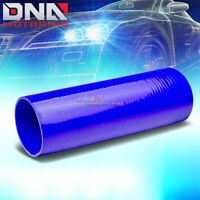"""3.5""""X 12"""" STRAIGHT 3-PLY REINFORCED INTAKE/PIPING SILICONE COUPLER HOSE BLUE"""