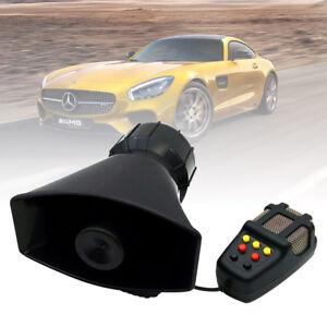 100W 12V 130DB Car Police Fire Alarm Siren Horn Warning Loud Speaker With Mic
