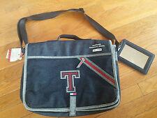 Tommy Hilfiger Organizational Book Shoulder Bag w/ Mirror Denim & Red Plaid NWT