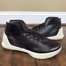 5a97194f7952 Under Armour UA NEW Curry Lux Oxblood Leather Basketball shoes Size 8.5  1299661