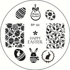 BORN PRETTY Nail Art Stamping Plate Easter Bunny Egg Image Template BP #60