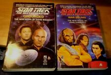 TWO STAR TREK Next Generation Books :  #23 War drums & #25 Grouded