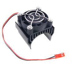 RC HSP 7020 Black Alum Heat Sink 5V Fan 40*40*10mm Cooling For 540 550 Motor