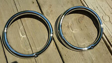 VW MAGGIOLONE 1303 BEETLE COX T2 GHIERE FARI HEADLIGHT RINGS ENJOLIVEURS PHARES