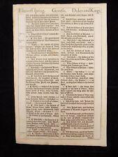 1611 KING JAMES BIBLE LEAF PAGE * BOOK OF GENESIS 35:6-36:39 *RACHEL & ISAAC DIE