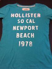 Juniors Hollister T-Shirt Size Small Teal Blue