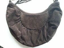 Warehouse Small Dark Brown Suede Handbag