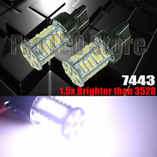 2X 7443/7440 7014 36 SMD Chip LED White Turn Signal Blinker Lights bulbs