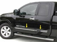 fit:2004-2015 Nissan Titan King Cab Body Side Molding Trim Overlay Cover 4Pc 3""