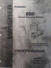 Wagner Pro 650 Airless Paint Gun Spraying Owner Amp Parts 5 Manual 0281010 Titan