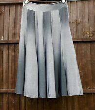 Ladies silver grey ombre M & S per una long maxi lined skirt size UK 14 M