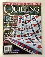 McCall's QUILTING, Original PATTERN still attached, July-Aug 2016