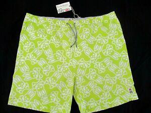 NEw w/ Tags PSYCHO BUNNY By Robert Godley Logo Swim Shorts, Green Guacamole; XXL