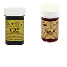 Sugarflair Paste Gel Edible Food Colouring Colours Icing - Lilac & Peach