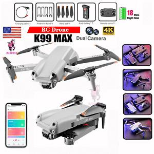 K99MAX Mini Drone 4K HD Dual Camera WIFI FPV Foldable RC Quadcopter toys