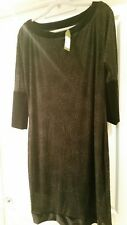 LADIES DRESS BY JERSEY GIRL  LONG SLEEVE BANDED DESIGN SIZE 14 RRP $169.95