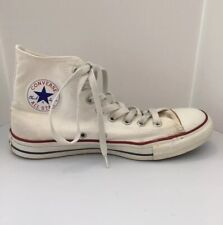 Vintage 90's Converse Canvas High Top Chuck Taylors All Star White - Mens Size 8