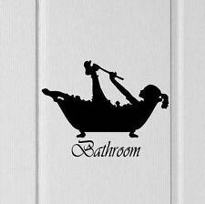 Bathroom Door Wall Silhouette woman showering Decal Vinyl Decor Victorian Style  sc 1 st  eBay & Buy Vinyl Victorian Style Wall Decals u0026 Stickers | eBay