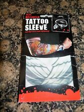 SLIP ON SLEEVE TATTOO FANCY DRESS  (GREEN COLOURS )