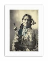 PHOTOGRAPHY BLACK WHITE 1898 INDIAN CONGRESS YELLOW MAGPIE ARAPHAHOE NATIVE