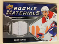 Jake Evans 2020-21 Upper Deck Series 2 ROOKIE MATERIALS JERSEY #RM-JE