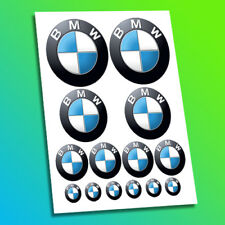 BMW Rounded Racing Motorcycle Bike Car Decal Stickers Helmet Badge Logo
