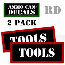 TOOLS  Ammo Decal Sticker bullet ARMY Gun Can Box safety Hunting Label 2 pack RD