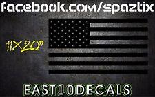 American Flag matte black rear window sticker decal merica