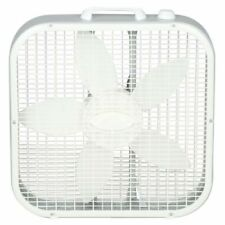 Lasko 20 in. 3-Speed Box Fan White w/ 3 Quiet Speeds Floor Built-in Carry Handle