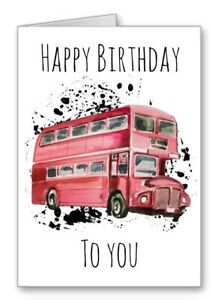 Bus Driver Birthday Card Happy Birthday All Cards 3 for 2