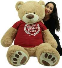 5 Foot Giant Teddy Bear Soft 60 Inch New, Wears T-shirt Official Snuggle Buddy