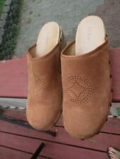 Womens LL Bean Suede Clogs Size 10M
