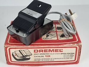 Vintage Dremel 21505 Foot Operated Solid State Speed Control Made in USA