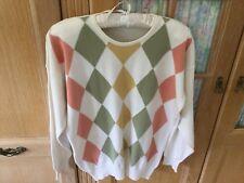 M&S Vintage 100% Cotton Ladies Jumper Size 12/14