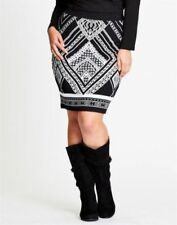 Straight, Pencil Knee-Length Viscose Geometric Skirts for Women
