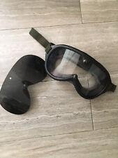 New listing Black Ski Goggles with addtional sun lens ballistic Sun wind dust