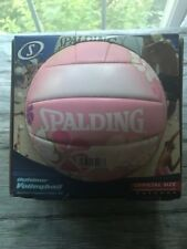 Spalding Outdoor Volleyball Pink New Official Size and Weight - pink w/ designs
