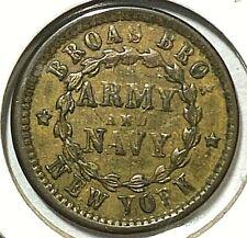 Civil War Store Card 1863 NYC, NY - Broas Bros. 630L-5a UNC