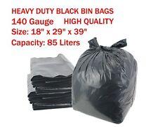 EXTRA STRONG HEAVY DUTY BLACK BIN LINER BAGS GARBAGE WASTE RUBISH SACKS 140 G