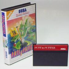 PUTT & PUTTER Sega Master System Funny Golf SMS Original Boxed No-Manual