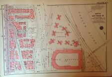 1955 Polo Grounds Harlem 157Th-163Rd Manhattan Ny G.W. Bromley Atlas Map 12 X 17