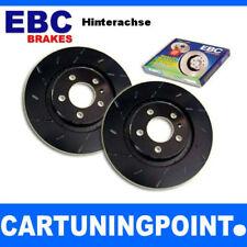 EBC Discos de freno eje trasero negro Dash Para VW POLO 5 9a4 usr816