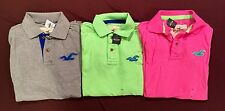 NWT Men's Hollister Abercrombie Lot of 3 Polo Shirts Small Sm S  Worldwide Ship