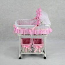 Brand New Julia Dolls Cradle Bassinet Storage Baskets Mattress & Linen