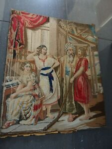 Antique Victorian hand worked tapestry
