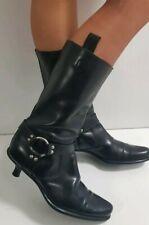 MIU MIU Leder Runway Biker West Stil Harness Boots 37,5 Stiefel Prada Botas