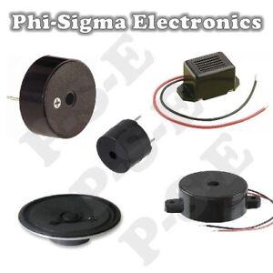 Miniature Electronic Buzzer / Speaker / Sounder : Various Types